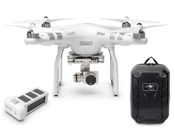 Quadrocopter DJI Phantom 3 Advanced v2 +akumulator i plecak Hardshell