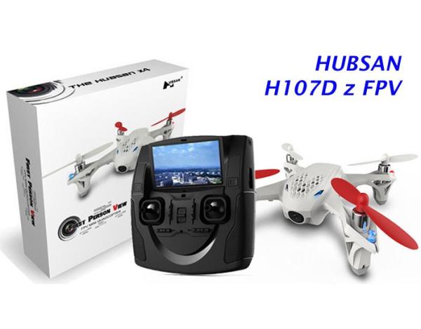 Dron Quadrocopter Hubsan X4 107D z kamerą i podglądem FPV