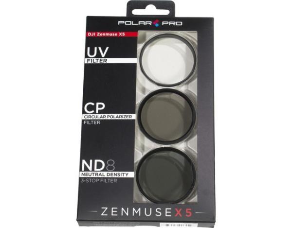 Zestaw 3 filtrów POLARPRO do Zenmuse X5/X5S/X5R 46mm -UV,CPL,ND8