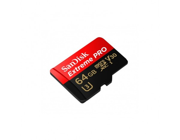 Karta pamięci microSDXC Extreme PRO Sandisk 64GB U3 V30 UHS-I