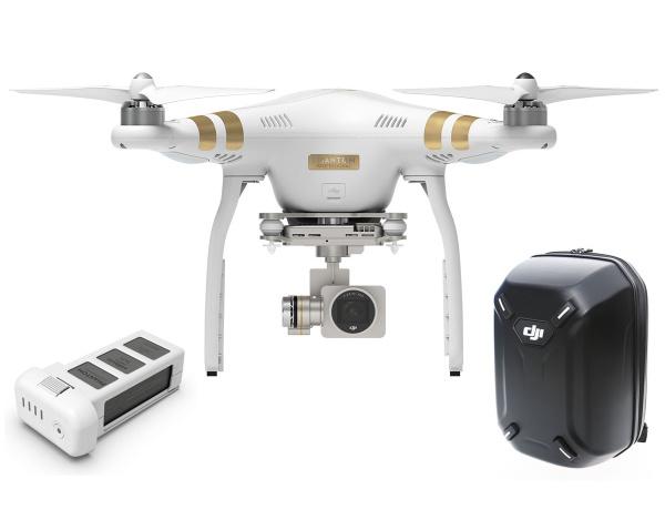 Quadrocopter DJI Phantom 3 Professional v2+akumulator i plecak DJI