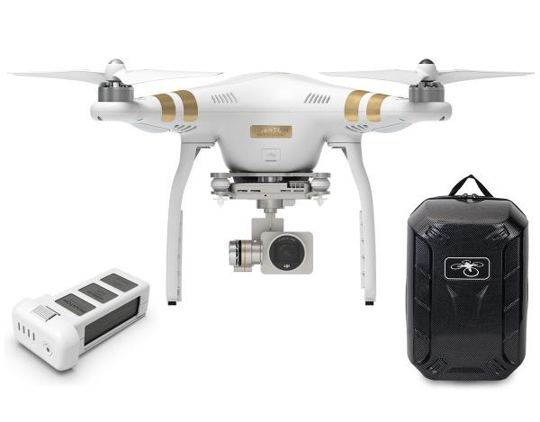 Quadrocopter DJI Phantom 3 Professional +akumulator i plecak Hardshell