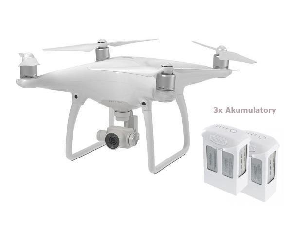 Quadrocopter DJI Phantom 4 + dodatkowe dwa akumulatory