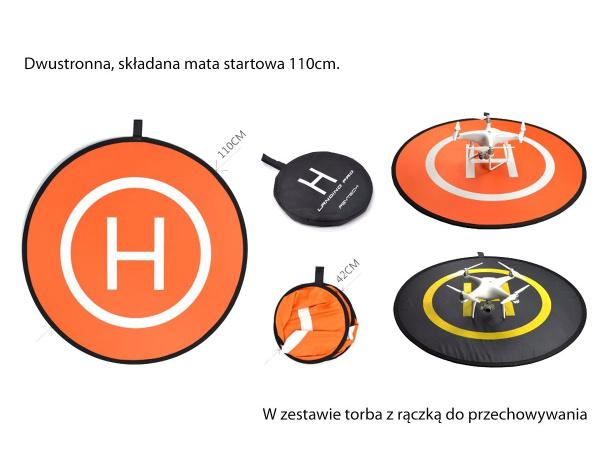 Mata startowa, lądowisko dla dronów z futerałem 110cm