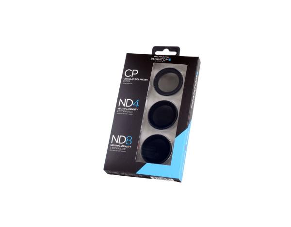 Zestaw 3 filtrów POLARPRO do DJI Phantom 3,4 -CPL,ND4,ND8