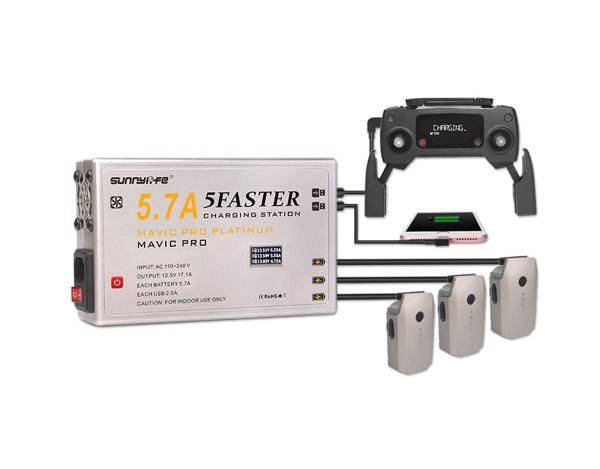 5 kanałowa szybka ładowarka 5.7A do DJI MAVIC z LCD