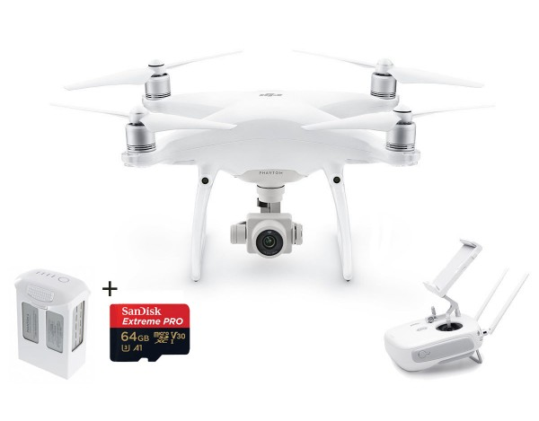 Quadrocopter DJI Phantom 4 Advanced + akumulator +64GB