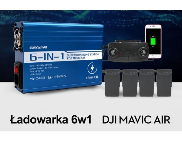 Ładowarka 6w1 do DJI Mavic Air ładuje 4 akumulatory !